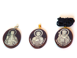 Pendants with hanger, hanger for chain and with thread